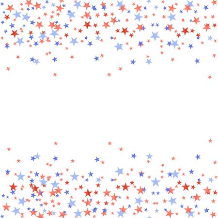 textured red and blue stars on white background.