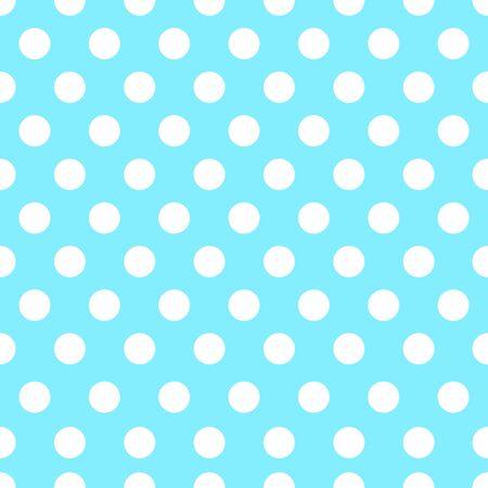 Polka dot seamless pattern on blue background.