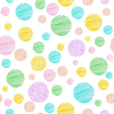 Colorful Polka dot seamless pattern background.