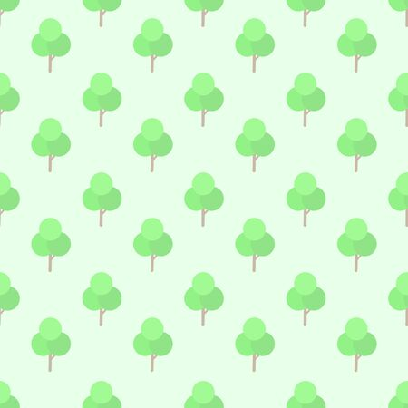 tree seamless pattern vector background.