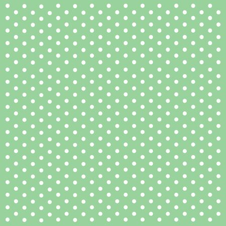 Polka dots on green background.