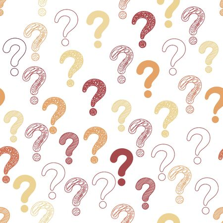 Colorful Questions marks seamless pattern background.