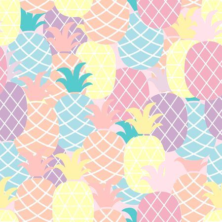 Colorful Pineapple seamless pattern background.