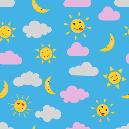 Cute seamless pattern background for kids.