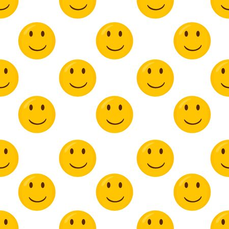 Happy seamless pattern background.