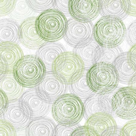 Green Polka dot seamless pattern background. Illustration
