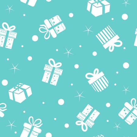 Gift box seamless pattern background.