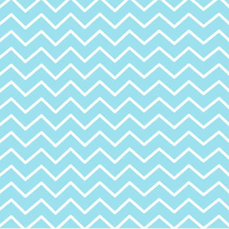 Striped zigzag on blue background. Stock Illustratie