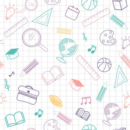 back to school seamless pattern background. Banque d'images - 150770784