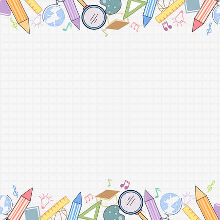 colorful back to school background. Illustration