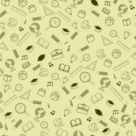 back to school seamless pattern background.