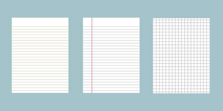 Set of notebook paper background.
