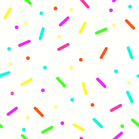 colorful confetti seamless pattern on white background. Banque d'images - 151483192