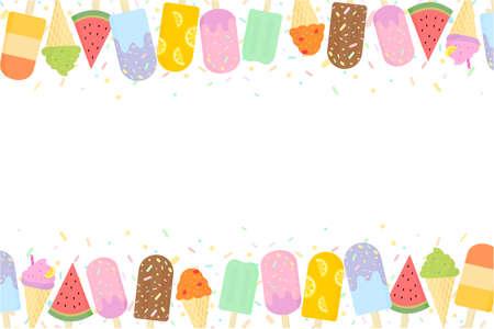 Cute Ice cream background.