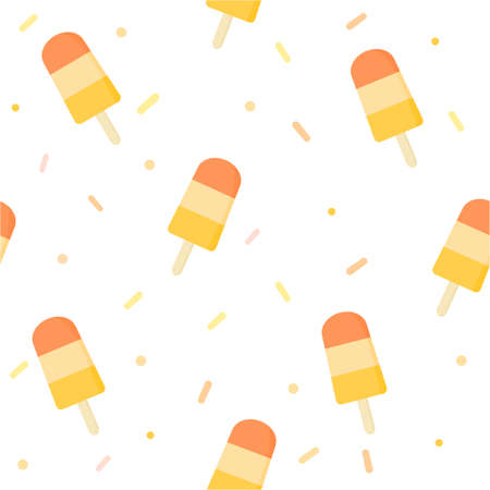 Cute ice cream seamless pattern background. Banque d'images - 151483306
