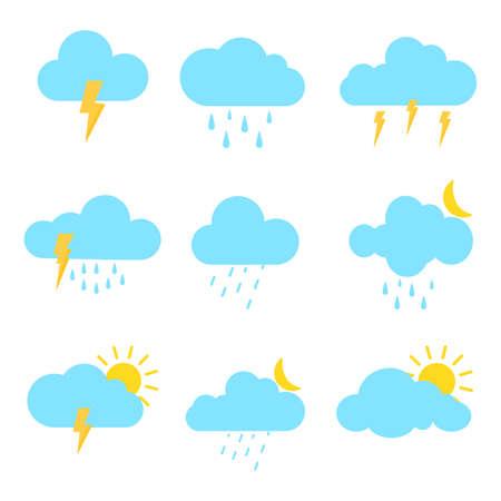 set of Weather isolate on white background.