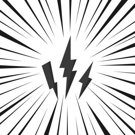 Lightning bolt isolate on white background.