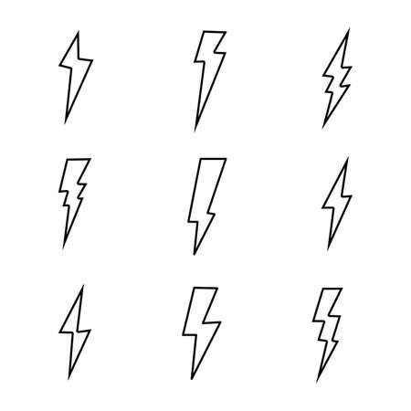 set of Thunder isolate on white background. Banque d'images - 151483345