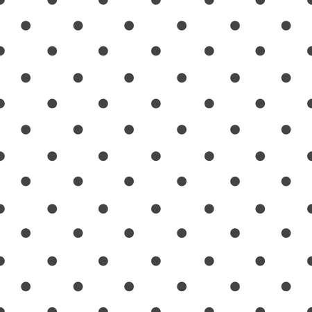 polka dot seamless pattern on white background. Illustration