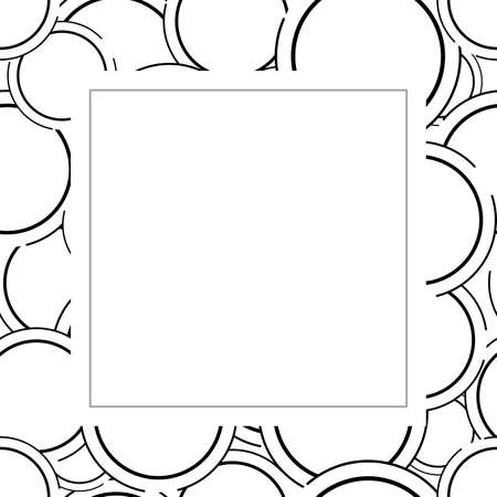 Abstract circle frame background. Banque d'images - 152794424