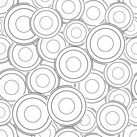 Abstract circle seamless pattern background. Banque d'images - 152794425