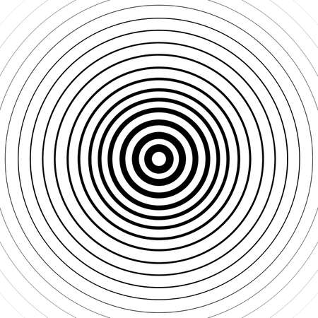 Abstract black circle spin on white background. Banque d'images - 152794448
