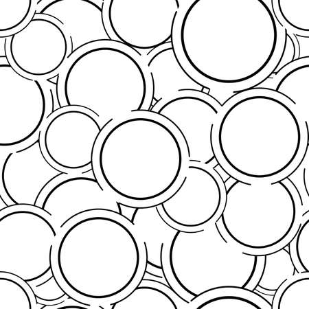Abstract circle seamless pattern background. Banque d'images - 152794449