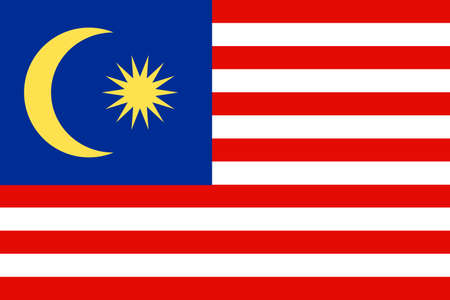 National Malaysia flag background. vector illustration Banque d'images - 152794464
