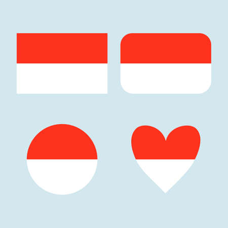 National Indonesia flag icon set. Banque d'images - 152794466