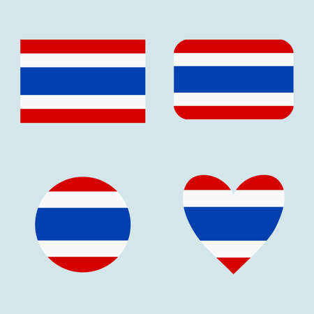National Thailand flag icon set. Banque d'images - 152794470