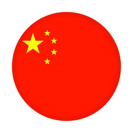 National China flag circle. vector illustration