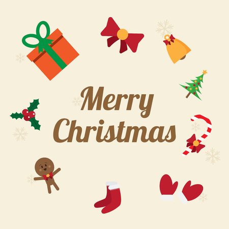 candycane: merry christmas. vector illustration. flat and lovely design.