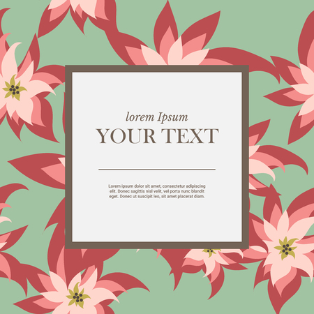 marca libros: flower seamless pattern. packaging design templates, frames with copy space for text , cosmetics and beauty products. vector illustration.