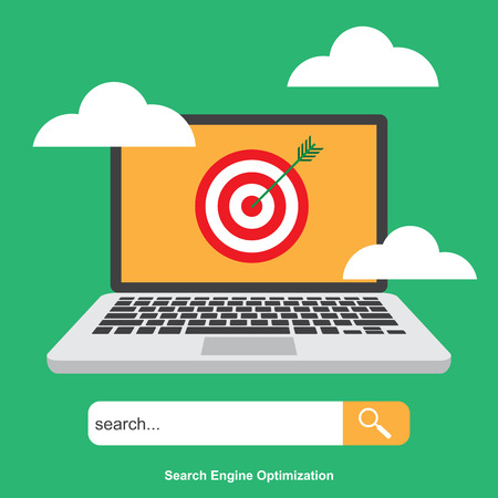 SEO , Search Engine Optimization. Digital Marketing. Analytics Search , Information and Website.Vector Illustration.