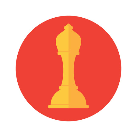 chess board: Chess icon. Vector illustration. Business and strategy design concept.