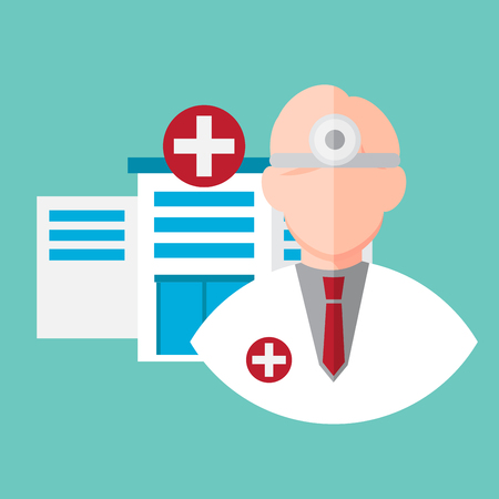 doctor. avartar , icon vector illustration. healthcare and medical design concept.