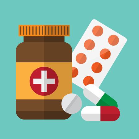 medicine , drug. healthcare and medical design concept. vector illustration.