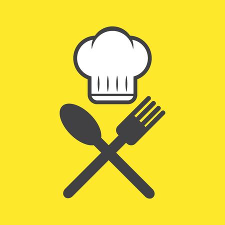 chef , cook , cooking, restaurant icon , logo. vector illustration. cuisine , kitchen design concept.