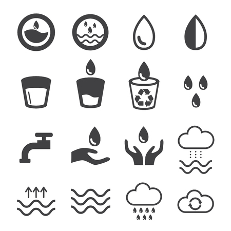 Water icons set. natural and ecology design concept vector illustration.