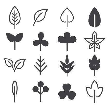 Leaf icons set. natural and ecology design concept vector illustration.