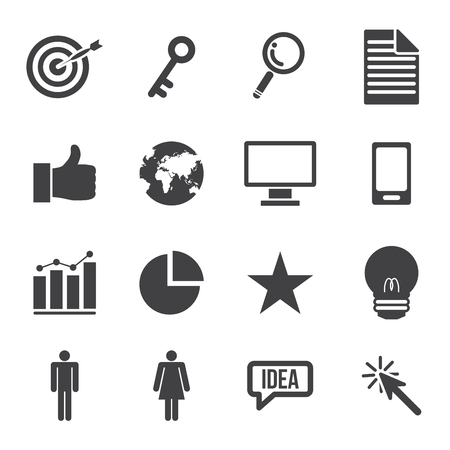 marketing and business icons set. vector illustration.
