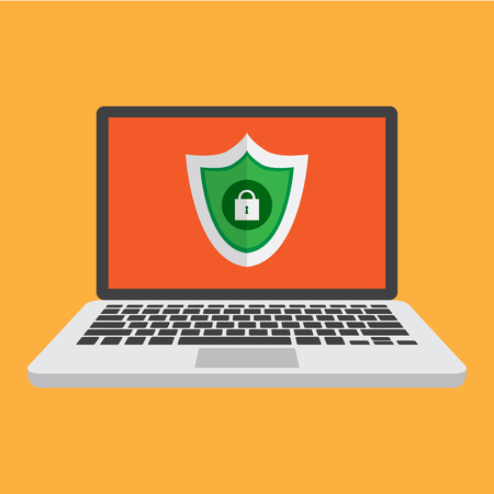 computer security. digital protection. anti hacker vector illustration.