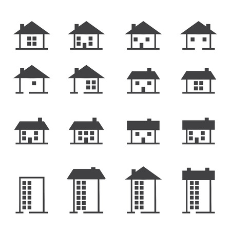 house , home , real estate icons set. vector illustration.