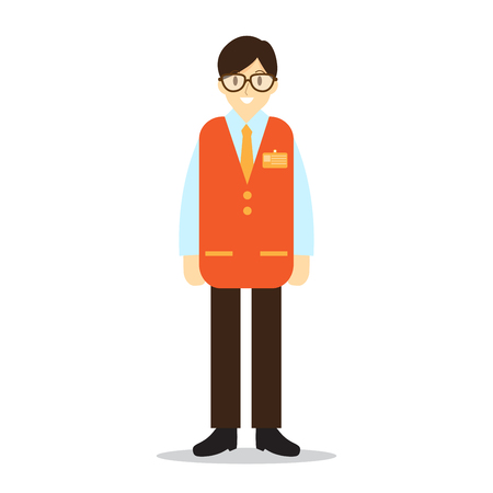 Store manager , occupation. Character vector illustration. Illustration