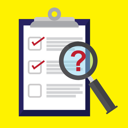 Survey , checklist , questionnaire. feedback business concept. Illustration