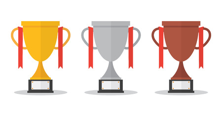 Trophy set gold , silver, bronze.