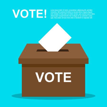 classified: Vote election. democracy vector illustration.