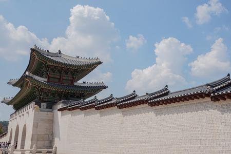 main gate: main gate of Gyeongbokgung palace in South Korea Editorial