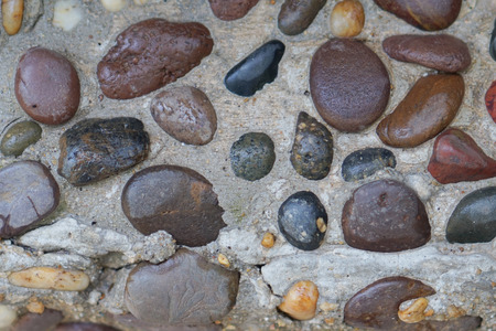 pepples: Close up to rocks wall Stock Photo