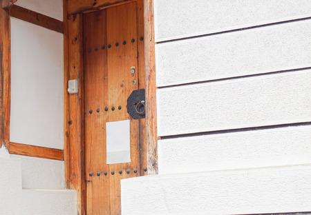 korean style house: Korea wooden door vintage style